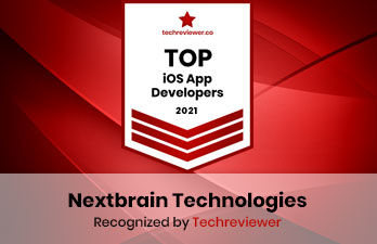 Nextbrain Technologies is Recognized by Techreviewer as a  Top iOS App Development Company in 2021