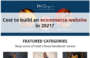 What is the cost to build an ecommerce website in 2021?