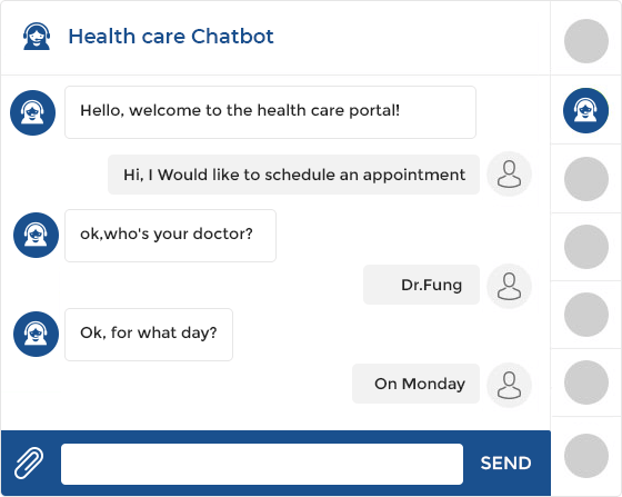 Health care chatbot development