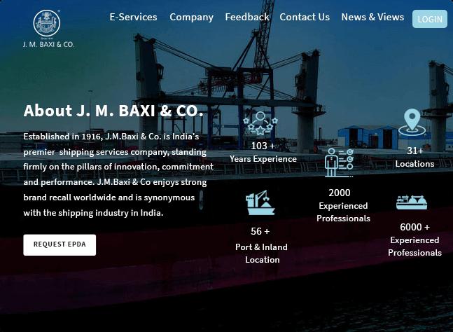 jmbaxi indias premier shipping services company