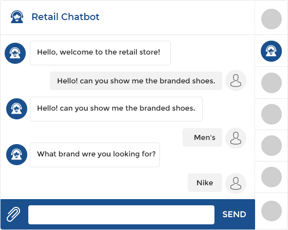 Retail chatbot Development