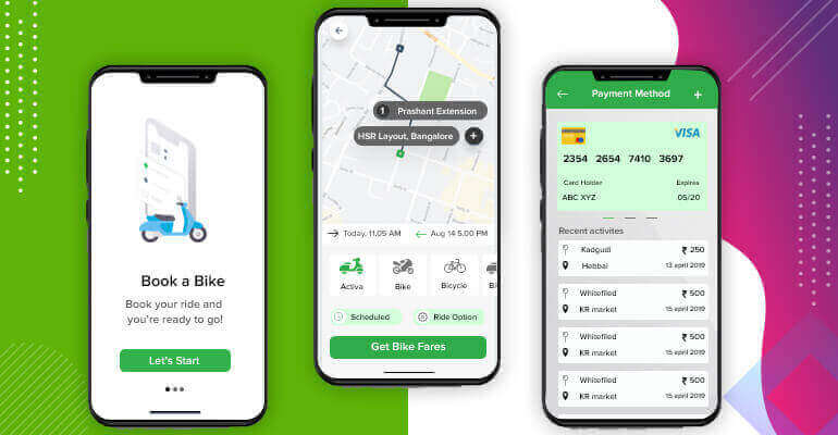 Bike rental customer mobile app